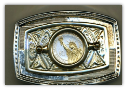 "New George Washington Dollar (Reverse) ""STATUE OF LIBERTY""  Belt Buckle (2007)"