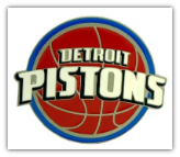 Detroit Pistons Logo Belt Buckle