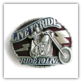 Live To Ride/Ride To Live Belt Buckle