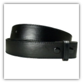 Black Stitched Leather Belt