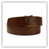 Tan Stitched Leather Belt