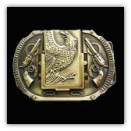 Eagle Brass Tone Lighter Belt Buckle
