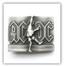 AC-DC Belt Buckle - Antique Silver
