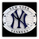 NY Yankees Oversized MLB Belt Buckle