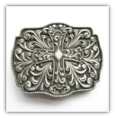 Cross Belt Buckle - Antique Silver