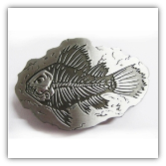 Fish Skeleton Belt Buckle