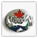 Canada with Maple Leaf Belt Buckle