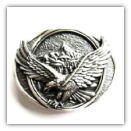 Eagle in Flight Belt Buckle - Silver Plated