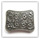 Western Flower 2013 New Celtic Belt Buckle - Silver Plated
