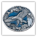 Western Eagle w/Feathers Belt Buckle