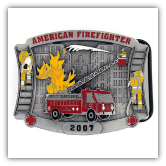 American Fire Fighter 2007 Limited Edition Belt Buckle