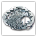 Eagle Diamond Cut & Cut-Out Belt Buckle