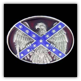 Confederate Flag & Eagle Belt Buckle