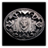 Shadowbox Wolf Belt Buckle