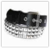 Black Punk Pyramid Studded Leather Belt