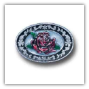Small Western Oval w/Rose Belt Buckle