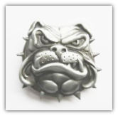 Bulldog Belt buckle - Antique Silver