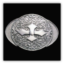Oval Cross Belt Buckle