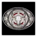 Western Buffalo Skull Belt Buckle