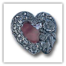 Western Heart w/Rose Belt Buckle