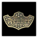 Fender Gold Plaque Belt Buckle