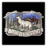 Bowhunting with Deer Belt Buckle