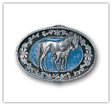 Mare w/Colt  Belt Buckle