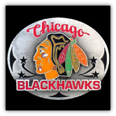 Chicago Blackhawks NHL Belt Buckle