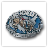 Rodeo Horse Rider Belt Buckle