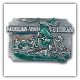 Korean War Veteran Belt Buckle