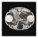 Eagle Diamond Cut Belt Buckle