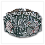 Vietnam Veteran Belt Buckle