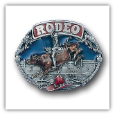 Rodeo Bull Rider Belt Buckle