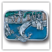 Wading Fisherman Belt Buckle