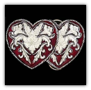 Hearts & Flowers Belt Buckles