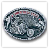Born to be Free Belt Buckle