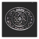 Western Belt Buckle - Oval