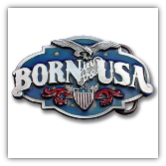 Born In the USA Belt Buckle