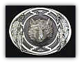 Wolf Diamond Cut Belt Buckle