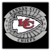 Kansas City Chiefs Oversized NFL Belt Buckle