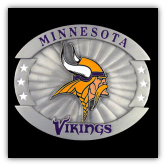 Minnesota Vikings Oversized NFL Belt Buckle