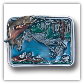 Fishing in River Belt Buckle