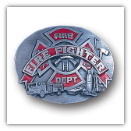 Fire Fighter Oval Belt Buckle