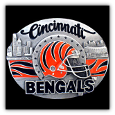Cincinnati Bengals NFL Belt Buckle