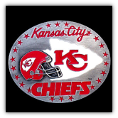 Kansas City Chiefs NFL Belt Buckle