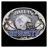 Dallas Cowboys NFL Diamond Cut Belt Buckle