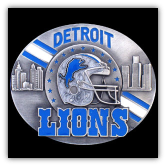 Detroit Lions NFL Belt Buckle