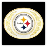 Pittsburgh Steelers - Gold and Silver Toned NFL Logo Belt Buckle