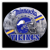 Minnesota Vikings NFL Belt Buckle