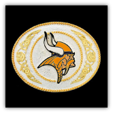 Minnesota Vikings Gold & Silver Toned NFL Logo Buckle